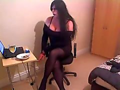 Beautiful Kirsty Smoking Goth Princess