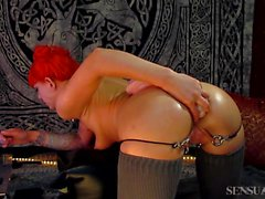 Anal Loving Abigail Dupree bouncing on BBC and taboo cocks