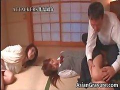 asiático bebê morena sexo em grupo hardcore