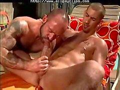 Johnny Gunn & Ethan Wolfe büyük seks