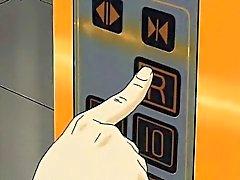 Picante da ilustrações de anime mel sendo fingered