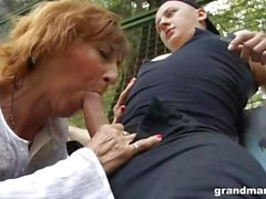 Granny Amanda Public Sex Basketball Court