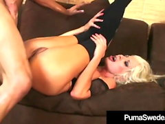 Blond Amazon Puma Swede Pussy Pounded In High Heeled Boots!