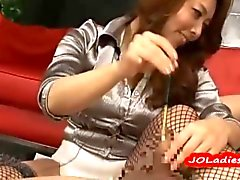 Asian Office Lady Dominating Her Employee with cbt