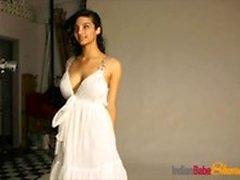 Amazing Indian Babe Shanaya Stripping Exposing Milky Tits