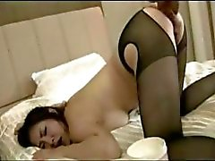 Asian Kameko come seu pênis, fica dedos e punhos , em seguida,
