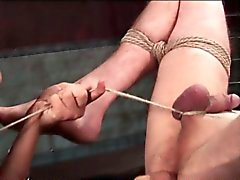 Male sex slave ass toyed and nipples clipped