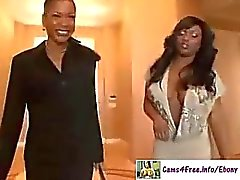 Ebenholz Jada Fire Squirting Schwarz 3 Way!