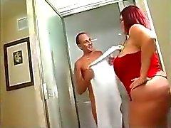 Bbw badkamer neuken