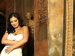 Aziani Aria Giovanni gets naked and spreads her hairy pussy