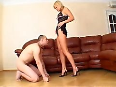 Stunning Blonde Femdom Face-Sitting & Pussy+Ass Licking