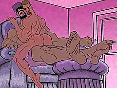Гомосексуалистам мультфильма - фут фетиш