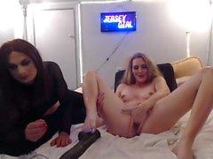 dirty Transgender playing monster anal dildo