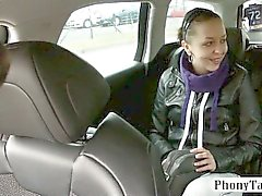 Amateur biatch doggied in the backseat by pervert driver