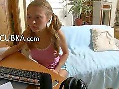 19yo amatör tjej fingersättning för denna webkamera