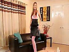 Roze panty en super hete tieten