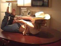 Erica Campbell cadenas hogtied