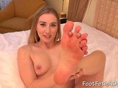 Babe's fond of her feet