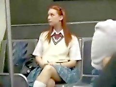 Redhead chica AUTOBUS la seducción