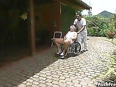 Galen old Brasilianskt farmor slampa !
