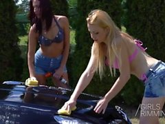 Wet Fälgar Cleaners Trekant - GIRLSRIMMING - Anal