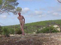 Naked wank in menorca