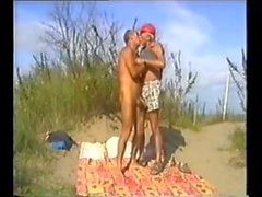 дублёные пляж папашами со зрителем