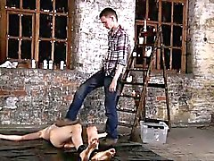Free gay porno movies Chained to the warehouse floor and una