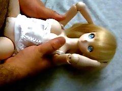 Blondin söta anime Dollfie onahole docka knull
