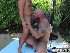 Hairy son ass to mouth and facial
