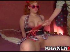Krakenhot - pom-pom girl Chubby dans un casting maison