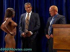 Cumdoleezza Reis Weißes Haus BJ mit Dick und Bush auf Spunk'd!