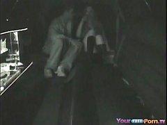 La cámara fue sorprendida por el sexo de una limusina