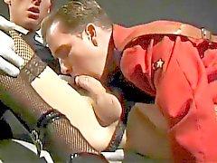 Gay Oficial Militar En el Medias de nailon