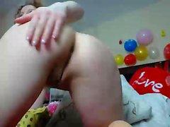 Sorprendente bionda tedesco webcam Milf tallone masturbazione