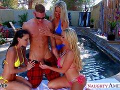 Reizvolles Ehefrauen Emma Starr Jessicas Jaymes und Nikki Benz Sharing