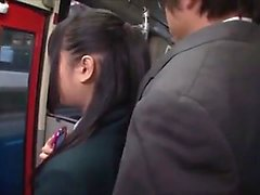 Is she horny? - Girl in the bus!