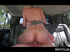 Lusty blonde taking dick up slit in the sex bus