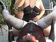 Bi couple plays with t-girls and crossdressers