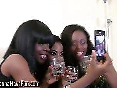 Real black hotties kissing