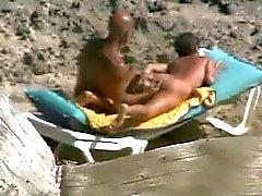 Naakt Beach Couple
