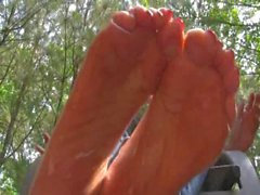 Oil Dripped Feet