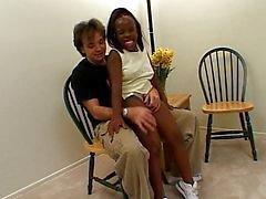 Ebony kääpiö babe dicked kova