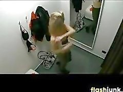 Adolescente del espió A A Vestidor Secador