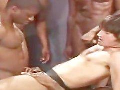 Slutpig cumboy Jeff Palmer viene grezzo scopa e si allevati da quattro appeso il nero gu