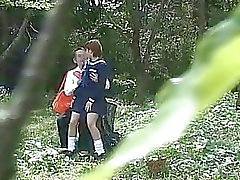 School Student Stellen Sex Outdoor Exposure