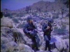 Vintage Gay Military Gelijktijdig masturberen