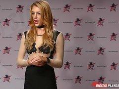 DP estrellas 3 - Blonde alto Pornstar Blake Eden garganta profunda mamada