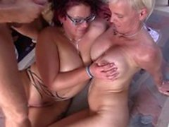 Reife Swinger - Vild German threesome med Mature swingers