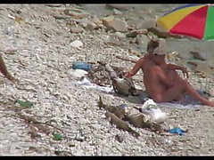 Aisankannattaja narttu rannalla